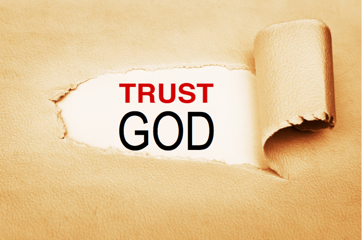Image with text Trust God